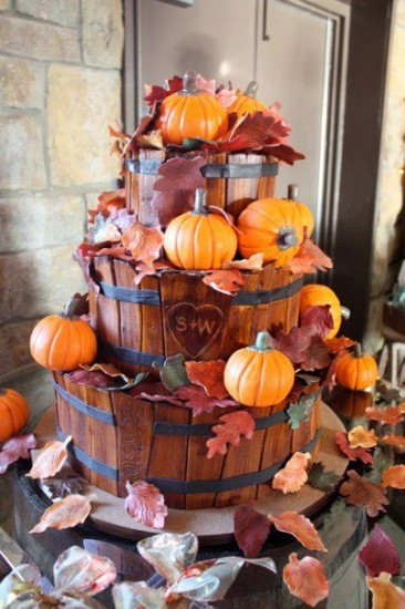 http://cakecentral.com/g/i/2201640/cake-i-made-for-my-daughters-wedding-all-fondant-pumpkins-are-rice-crispies-covered-in-fondant-geeze-it-was-a-lot-of-work-but-so-worth-it-the-cake-was-originally-done-by-withloveandconfection-i-believe/