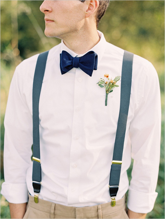 With a boys' bow tie and suspenders, your little man is ready for any occasion. Dress him up for your next family wedding in a boys' plaid bow tie that compliments the colors of his suit. If he plays the role of ring bearer, a boys' clip-on bow tie that matches those of the groom and groomsman is a no fuss option to the traditional bow tie.