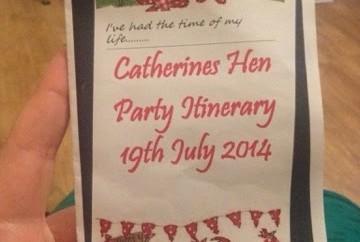 Catherine's Hen Invite