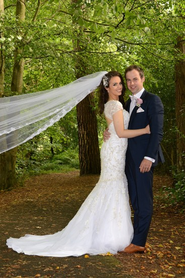 Cathy, daughter of Bernie and Sean McMenamin weds Patrick, son of Margaret and Sean on a beautiful autumnal day.