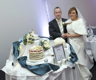 The newlyweds' threetier wedding cake was beautifully baked by Martin's sister-in-law, Alesha McLaughlin.