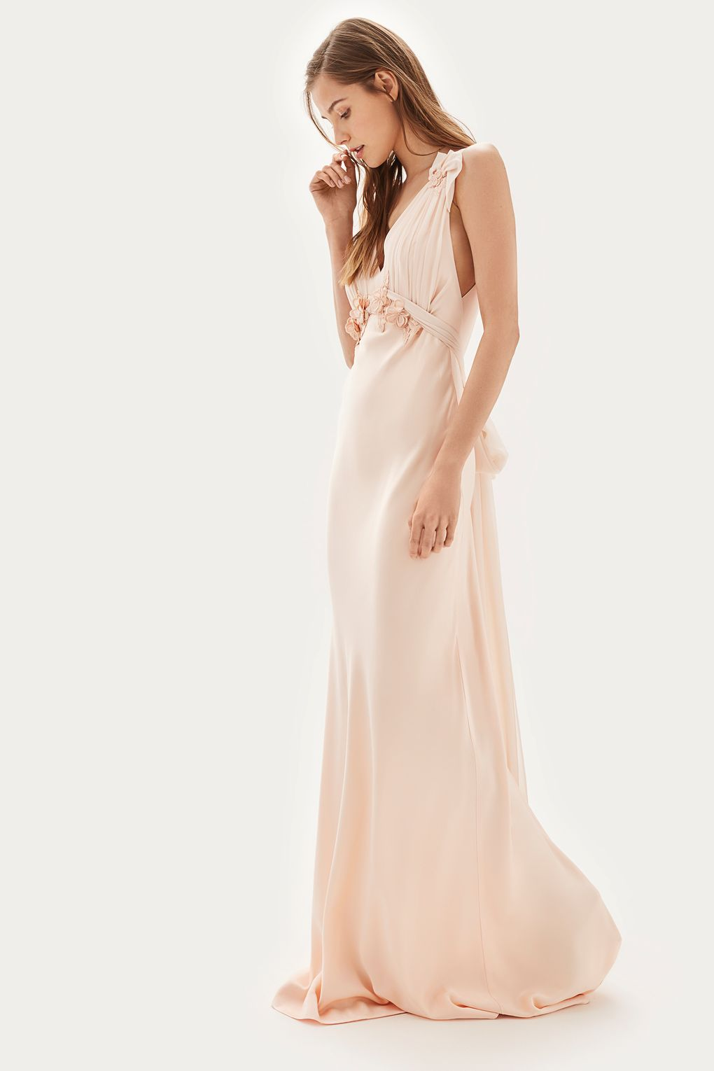 TS.Embroidered Applique Maxi Bridal Dress