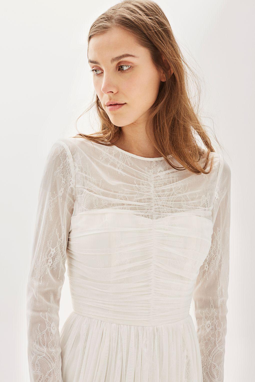 TS.Tulle Midi Bridal Dress