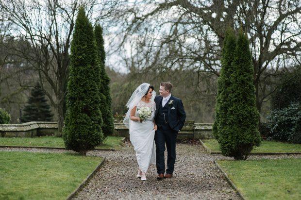Paul Kirwan and Una Hurson on their wedding day.