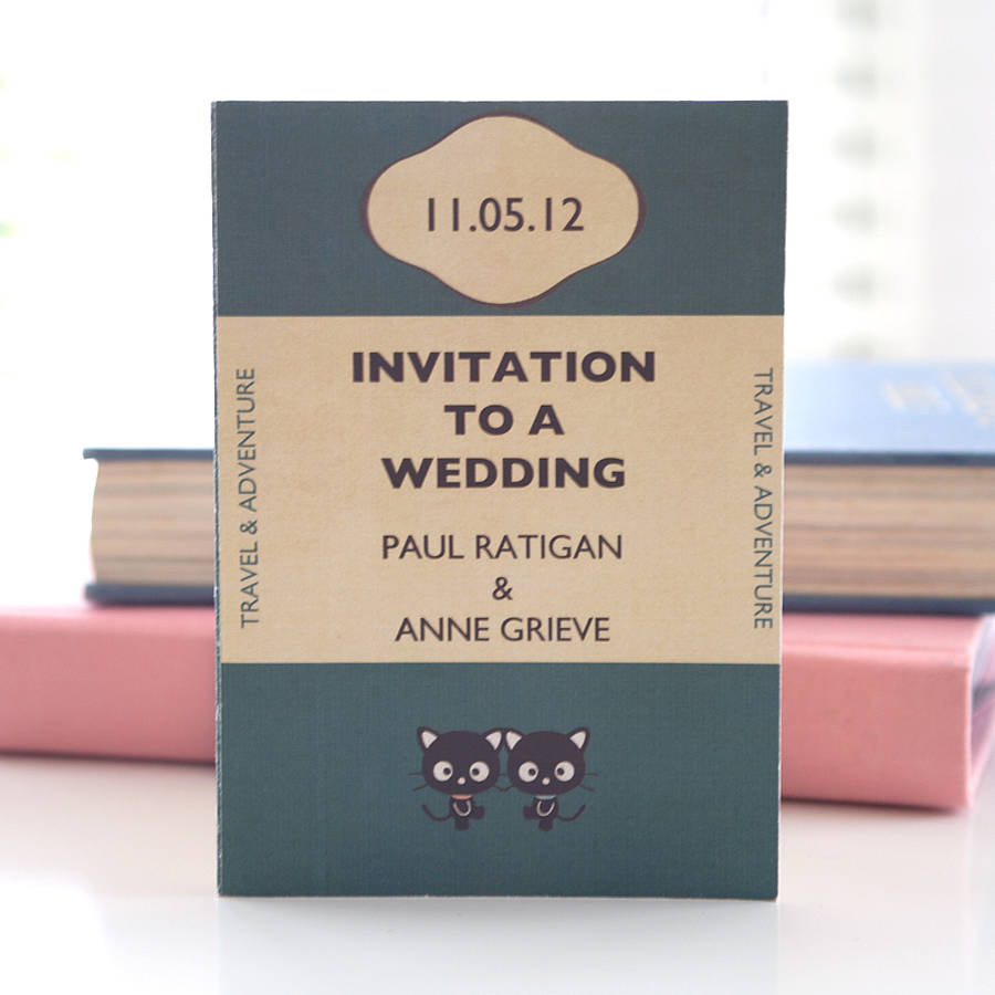 7 ways to have a fabulous book-themed wedding - north west brides, Wedding invitations