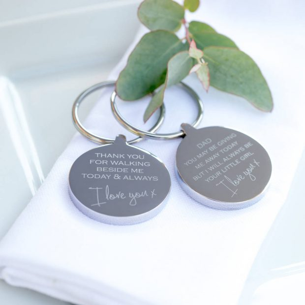 Not On The High Street Do A Wide Selection Of Customisable Gifts For The Whole Wedding Party But This Keyring Caught Our Eye The Option Of Two Different
