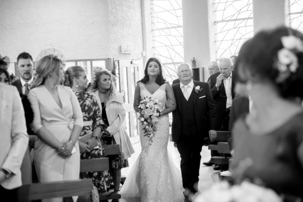 Megan S Beloved Father Paul Walks Her Down The Aisle