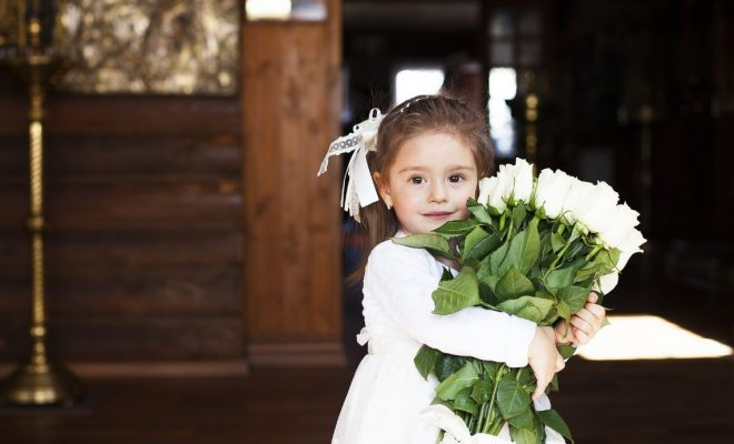 72a728090be Girls Just Want to Have Fun – 5 Flower Girl Jobs For Your Little Ladies - North  West Brides